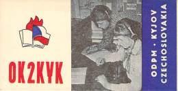 Amateur Radio QSL Card - OK2KYK - Czechoslovakia - 1974 - 2 Scans - Radio Amateur