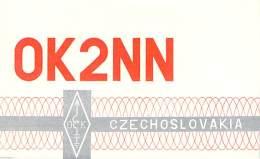 Amateur Radio QSL Card - OK2NN - Czechoslovakia - 1974 - 2 Scans - Radio Amateur