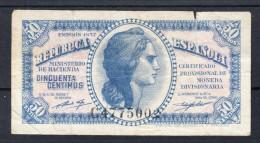 "ESPAÑA 1937. 50 CENTIMOS ALEGORIA REPUBLICANA.SERIE ""C"" RARA. MBC  B787 - [ 2] 1931-1936 : Republic"