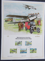 Isle Of Man 1984 FDC Lithograph - Airmail Service -planes - Scott 262/266 - Isola Di Man