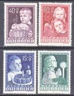 AUSTRIA   B 260-3   *   CHILD  WELFARE - 1945-60 Unused Stamps