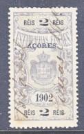 AZORES  REVENUE  1902  (o) - Azores