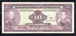 VENEZUELA 1995   10 BOLIVARES. BOLIVAR Y SUCRE . MBC    B788 - Venezuela