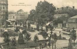 """CPA FRANCE 87 """" Limoges, Square Jourdan Et Quartier Général"""" - Limoges"""