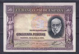 ESPAÑA 1935  50 PESETAS. SANTIAGO RAMON Y CAJAL  EBC    B791 - [ 2] 1931-1936 : République