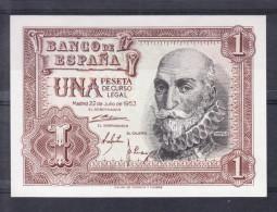 ESPAÑA 1952  1 PESETA. MARQUES DE Sta. CRUZ. ULTIMO BILLETE DE 1 PESETA   PLANCHA.NUEVO SIN CIRCULAR    B792 - [ 3] 1936-1975 : Régimen De Franco