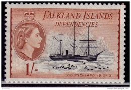 Falkland Islands Dependencies, 1954, Ships, 1sh, MLH - Falklandinseln