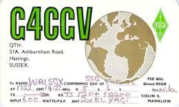 Amateur Radio QSL Card - G3CGV - Hastings, Sussex ENGLAND - 1976 - 2 Scans - Radio Amateur