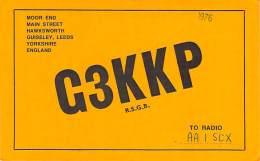 Amateur Radio QSL Card - G3KKP - Leeds, Yorkshire ENGLAND - 1976 - 2 Scans - Radio Amateur
