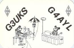 Amateur Radio QSL Card - G3UKS - Slough, Buckinghamshire ENGLAND - 1974 - 2 Scans - Radio Amateur