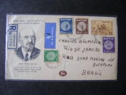 ISRAEL - REGISTERED LETTER SENT JERUSALEM TO RIO DE JANEIRO (BRAZIL) IN 1949 AS - Israel