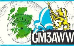 Amateur Radio QSL Card - GM3AWW - Newton, Mearns Renfrewshire, SCOTLAND - 1975 - 2 Scans - Radio Amateur