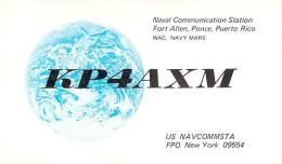 Amateur Radio QSL Card - KP4AXM - Fort Allen, Ponce, Puerto Rico - 1975 On 40 Meters - 2 Scans - Radio Amateur