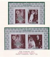 Cook Islands -Aitutaki SG 46-47 1972 Royal Silver Wedding  MNH Pairs - Cookeilanden