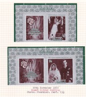 Cook Islands -Aitutaki SG 46-47 1972 Royal Silver Wedding  MNH Pairs - Cook
