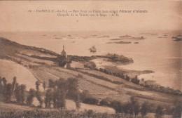 """G , Cp , 22 , PAIMPOL , Pors Even Où Pierre LOTI écrivit """"Pêcheur D'Islande"""" , La Chapelle De La Trinité Vers Le Large - Paimpol"""