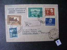 YUGOSLAVIA - REGISTERED LETTER SENT TO THE BELGRADE FOR FORTALEZA (BRAZIL) IN 1947 AS - 1945-1992 Socialist Federal Republic Of Yugoslavia