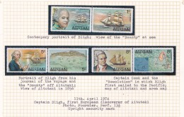 Cook Islands -Aitutaki SG 114-19 1974 William Bligh's Discovery  Set MNH - Cook