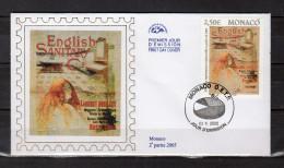 """(Faciale = 2.50 €) Env. 1er Jour En Soie De 2005 """" AFFICHE : ENGLISH SANITARY """" N° YT 2495. Parfait état. FDC - FDC"""