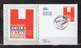 """Enveloppe 1er Jour En Soie De 2005 """" ECOLE SUPERIEURE D´ARTS PLASTIQUES DE MONACO """" N° YT 2483. Parfait état. FDC - FDC"""