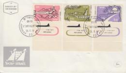 Enveloppe  FDC  1er  Jour  ISRAEL   Tourisme  Vues  Diverses   1961 - FDC
