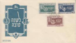 Enveloppe  FDC  1er  Jour  ISRAEL   Nouvel  An   1949 - FDC