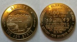 Jeton USA ALASKA 1959 - Monétaires/De Nécessité