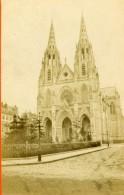 France Paris Basilique Sainte-Clotilde Rue Las Cases Ancienne CDV Photo 1870 - Photographs