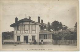77,Seine Et Marne, COMBAULT, La Gare, Personnages, Scan Recto-Verso - Pontault Combault