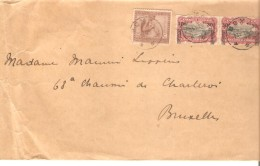 Belgisch Congo Belge TP 98(2)-110 S/L.c.Boma 23/10/1926 V.Bruxelles PR3212 - Congo Belge