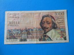 1000f Richelieu 3-11-1955 F42/16 TB - 1871-1952 Anciens Francs Circulés Au XXème
