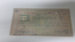 Israel-the Workers Bank Limited-(number Chek-417308)-(310.40lirot)-1946 - Israel