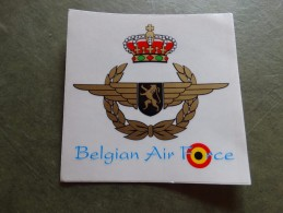 Autocollant-Belgian Air-Force - Aviation