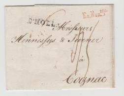 Ham001 / Hamburg 1796 Via NL Nach Frankreich Mit En Num Re In Rot ( Bargeld) Normalerweise Nur Auf Post  NL-Sp - Hamburg