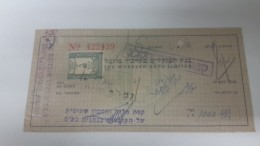 Israel-the Workers Bank Limited-(number Chek-422439)-(1000lirot)-1946 - Israel