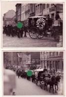 Funérailles à VERVIERS 1935  Réunion De 2 Grandes Photographies Du Studio Parmentier - Luoghi