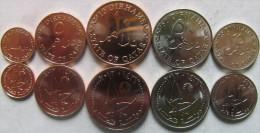 Qatar Set Of 5 Coins 2012 (1+5+10+25+50 Dirhams) UNC - Qatar