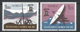 Norvège 1980 N°771/772 Neufs** Centenaire Du Téléphone - Neufs