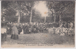 BEAUMONT LE ROGER : CHASSE A COURRE - COMTE BOISGELIN - 1908 - 2 SCANS - - Chasse
