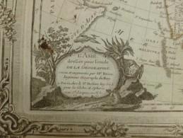 CARTE ASIE PAR BRION DE LA TOUR 1766 - Carte Geographique
