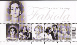 Belg. 2015 - COB N° 4485 à 4489 ** - Hommage à S.M. La Reine Fabiola (bloc 223) - Belgique