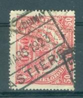 """BELGIE - OBP Nr TR 107 - Cachet  """"CHEM. DE FER DE CHIMAY - HASTIÈRE"""" - (ref. AD-5349) - Chemins De Fer"""