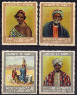Vignette Cinderella Cinderallas Afrique Cigaretten Fabrik Nestor Gianaclis Frankfurt - 2 Scans - Vignettes De Fantaisie