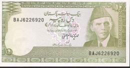 PAKISTAN P39 10 RUPEES 1983  Signature 11  UNC. 2 P.h. - Pakistan