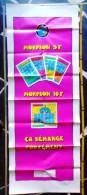 1 AFFICHE NEUVE DITE PANTALON 148 X 56cm  FDJ FRANCAISE DES JEUX MORPION BINGO POKER PUBLICITÉ GRATTAGES VERS 1995 ? - Affiches