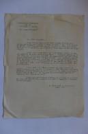 """LETTRE - ASSOCIATION FRANCAISE DE LA CRITIQUE DE CINEMA - PROJECTION 'LES BELLES DE NUIT"""" RENE CLAIR - ANDRE LANG - 1952 - Cinemania"""