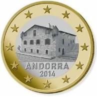 Andorra 2015    1 Euro  ZEER ZELDZAAM / EXTREME RARE !!  UNC Du Coffret .LEVERBAAR - LIVRABLE !! - Andorra
