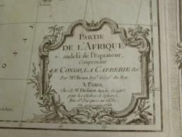 CARTE PARTIE DE L AFRIQUE AU DELA DE L EQUATEUR CONGO CAFRERIE PAR BRION DE LA TOUR 1766 - Mapas Geográficas