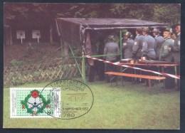 Germany Deutschland 1987 Maximum Card: Europa Schützenfest Lippstadt Königschissen; Adler Eagle - Umweltschutz Und Klima