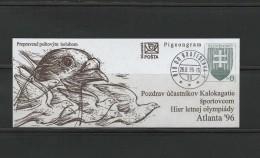 Slovakia 1996 Olympic Games Atlanta Pigeongram - Zomer 1996: Atlanta